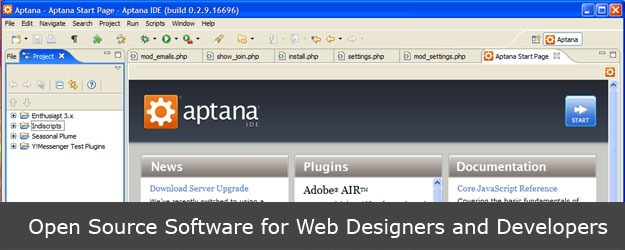 Best Open Source Software for Web Designers and Developers