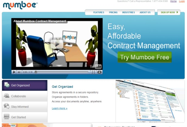 Mumboe - Web-Based Contract Management Software