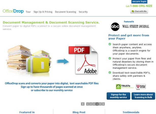 OfficeDrop - Document Scanning Service, Online Document Management