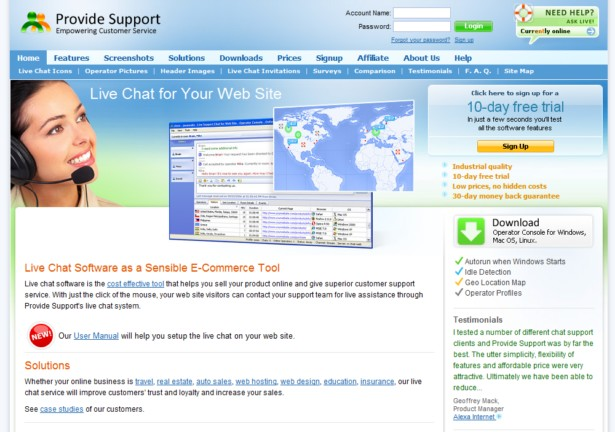 Provide Support - Live Chat Software for Live Support and Live Help