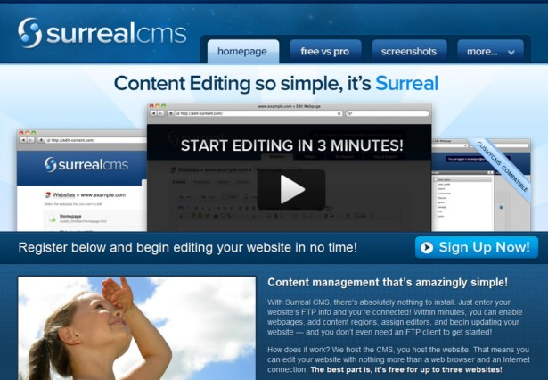 SurrealCMS - A Free and Simple CMS for Web Designers