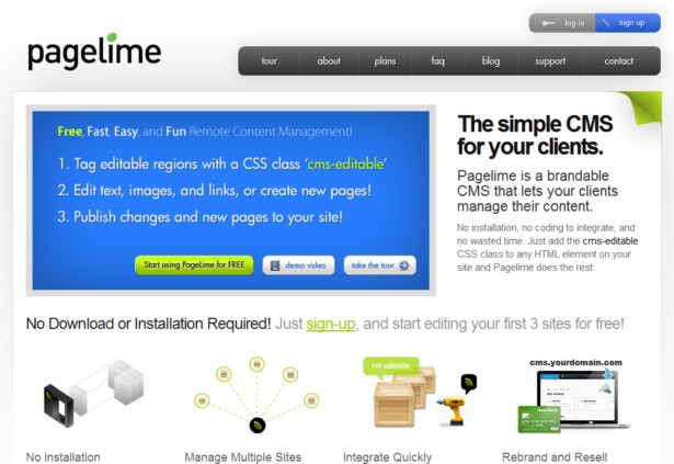 PageLime - Simple CMS for Web Designers