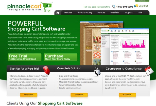 PinnacleCart - eCommerce Website Solution