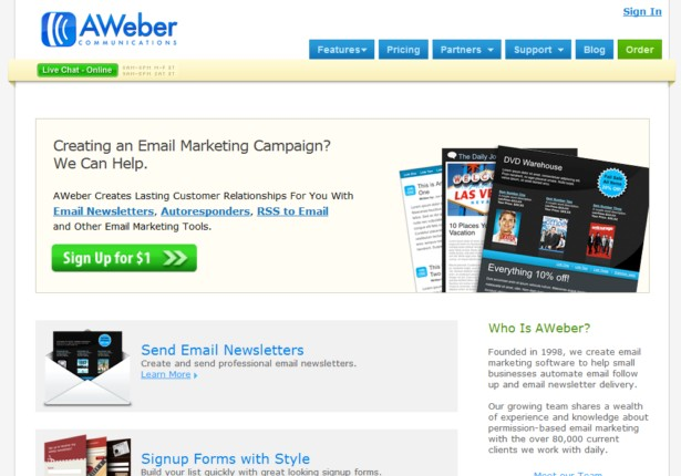 AWeber - Email Marketing Software, Email Marketing Newsletters and Autoresponders