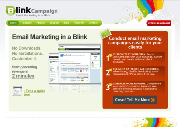 BlinkCampaign - White Label Email Marketing Software for Agencies and Designers