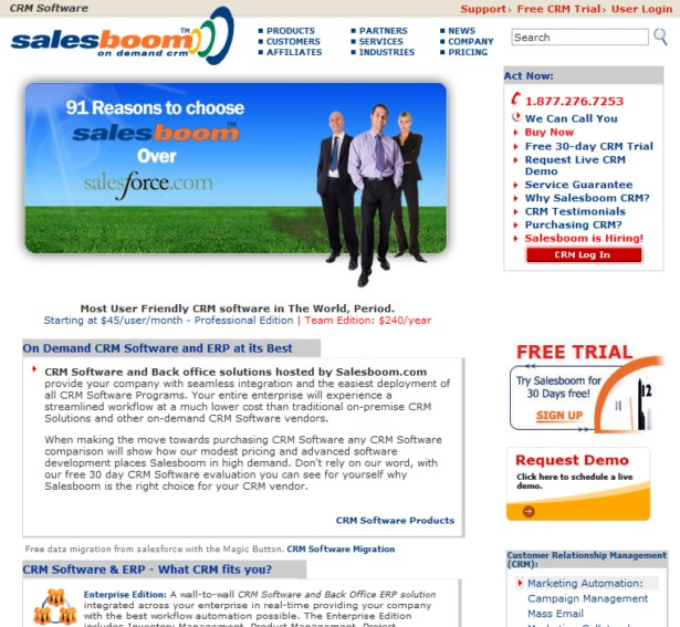 Salesboom - On-demand crm Customer Relationship Management Software