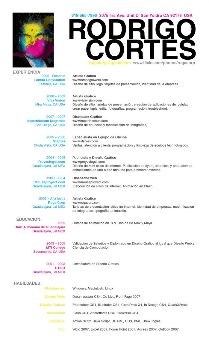 Resume_Espanol_by_rogaziano  Resume Design Examples