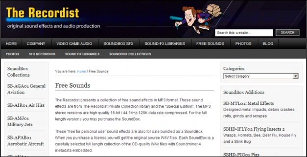 The Recordist, Sound Effect Download