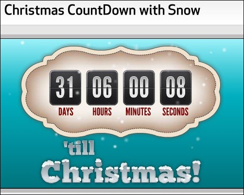 10 Awesome Christmas Countdown Timers
