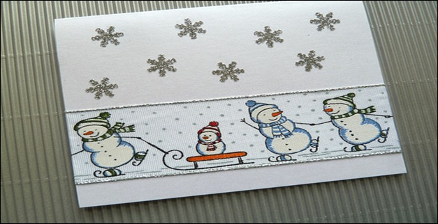 Snowman Winter card
