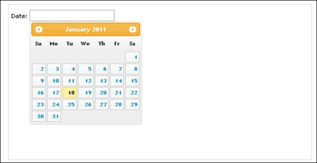 UI datepicker