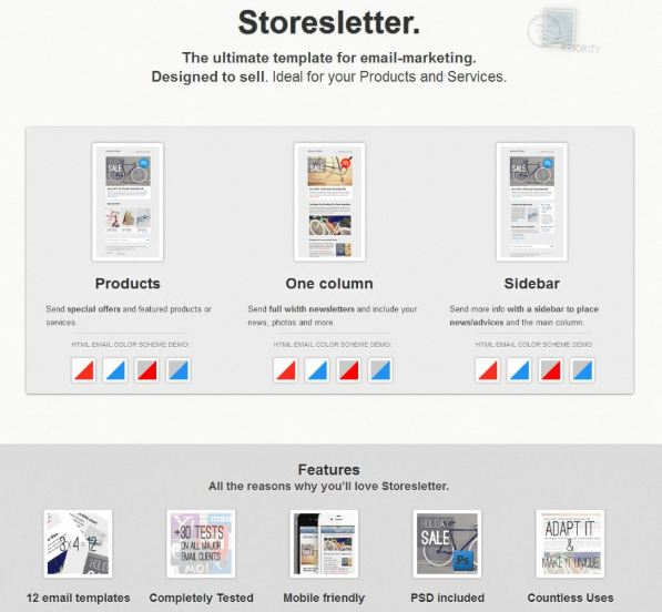 storeletter newsletter design