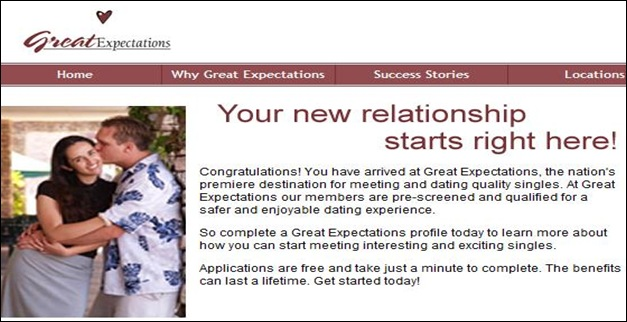 great expectations dating services