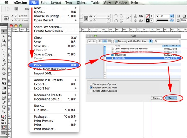 how to add multiple crop marks in indesign