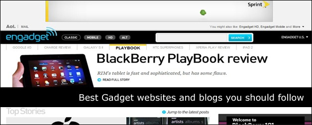 gadget website and blog collection