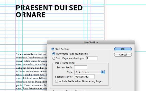 how to set up table of contents interactive pdf indesign
