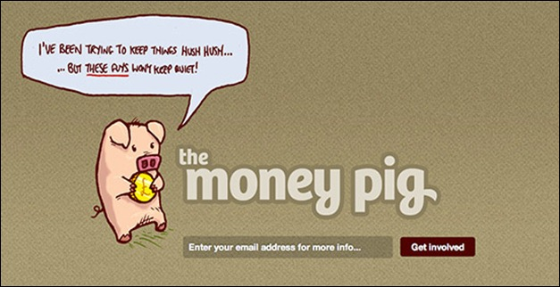 The money pig coming soon page
