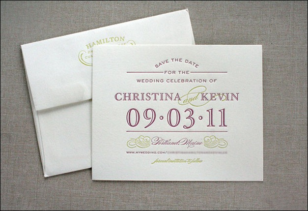 40 creatively designed invitation cards christina kevin typography wedding1 stopboris Images