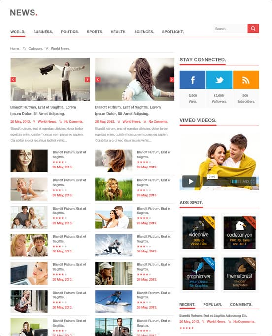20 Great 3 Column WordPress Theme Collection
