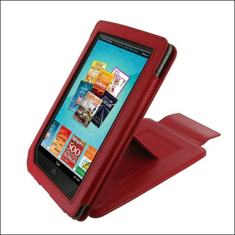 rr ooCASE (Red) Leather Case  nook color covers