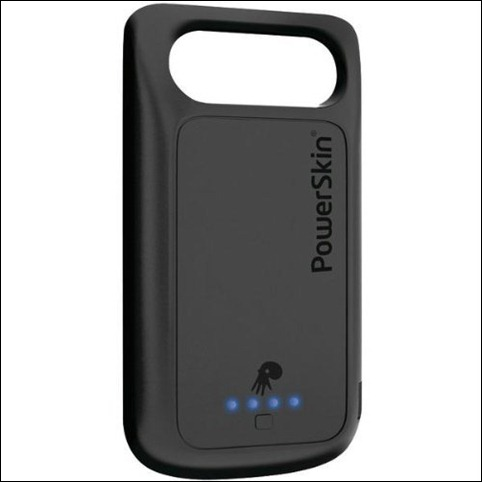 PowerSkin Protective Case with Built-in Battery for HTC Desire HD and Inspire 4G, AP1508DES (Black)