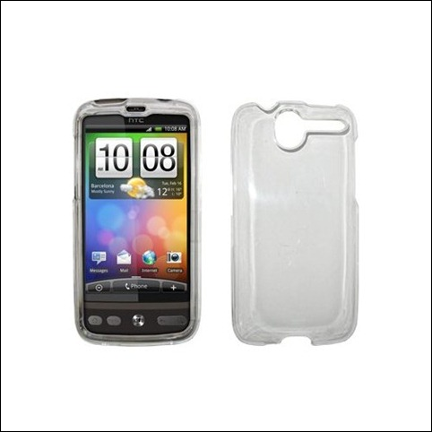 Premium Clear Snap-On Cover Hard Case Cell Phone Protector for HTC Desire [Accessory Export Brand Packaging]