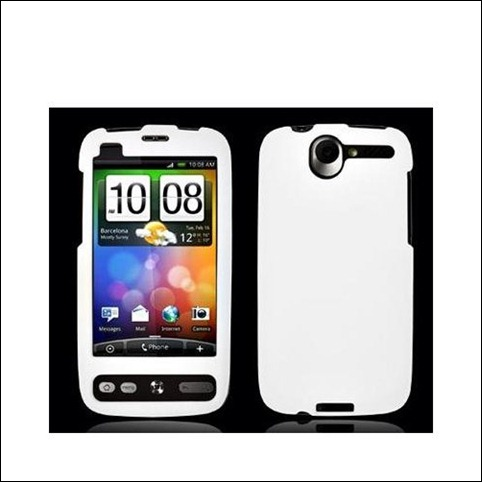 White Rubberized Snap-On Hard Skin Case Cover for HTC Desire G7 Bravo Phone New By Electromaster