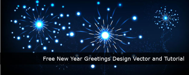 Free New Year Greetings Design Vector and Tutorial