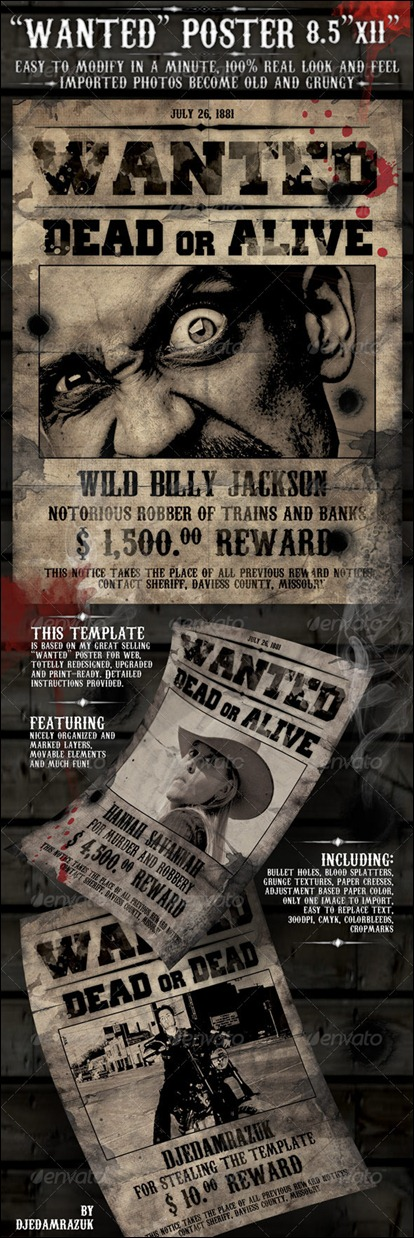 "8.5x11 Poster ""Wanted"""