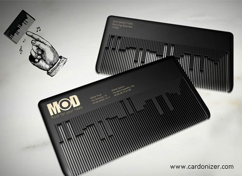 Musical Comb Card