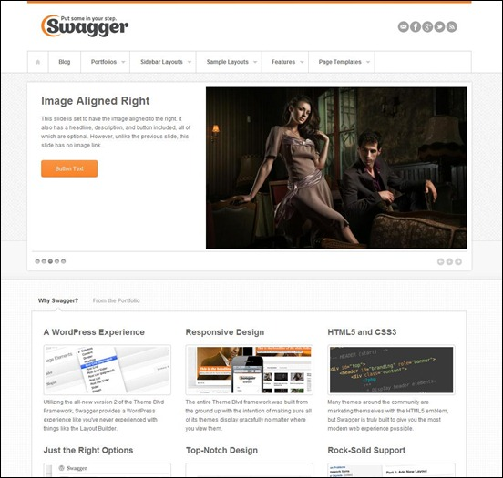 Swagger wordpress theme