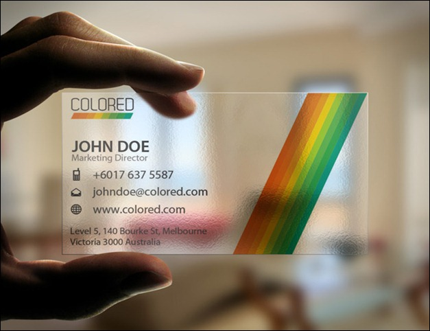 40 creative transparent business cards transparent colored business card fbccfo Image collections