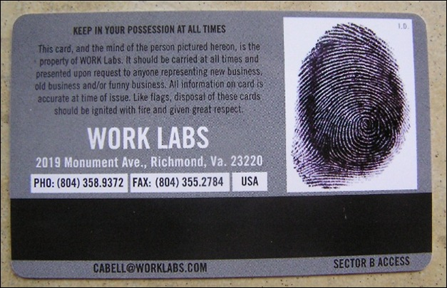 Work Labs Business Card