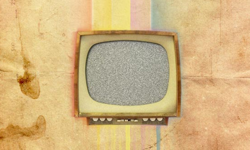 Vintage TV Poster in Photoshop