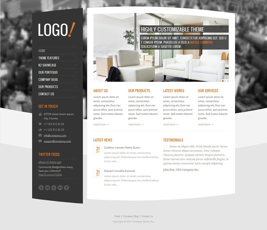 joomla 2 5 templates professional joomla templates 40 of the best joomla 2 5 templates