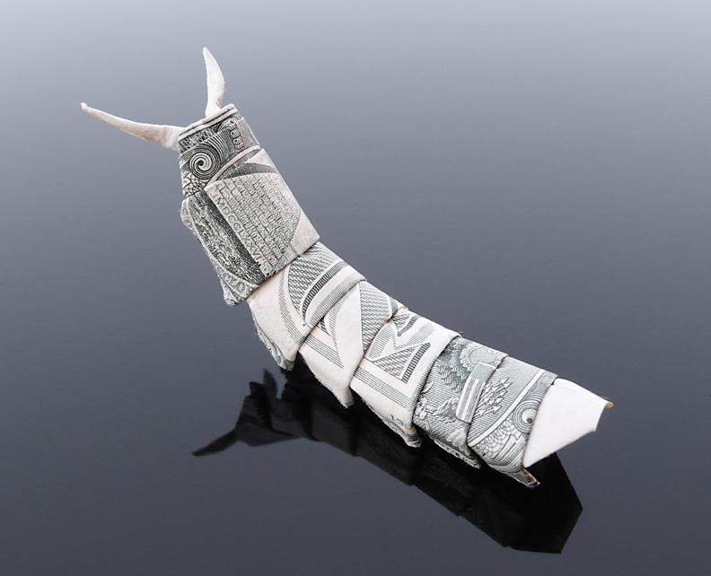 30 Excellent Examples of Dollar Bill Origami Art - photo#19
