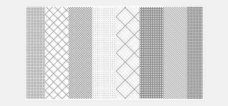 26 repeatable pixel patterns