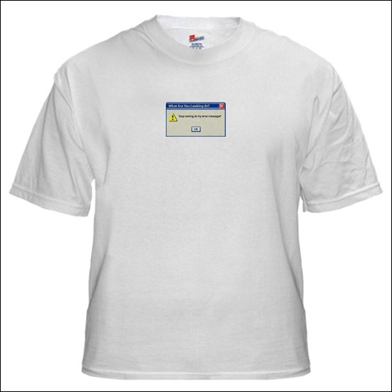 windows-error-message t-shirt