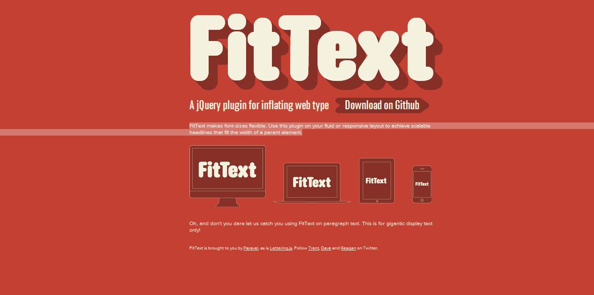 Elastic text with Fittext.js