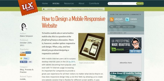 How To Design a Mobile Responsive Site via UX Booth