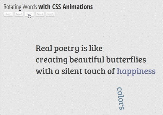 CSS3RotatingWords
