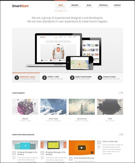 40+ Great Responsive HTML Website Templates