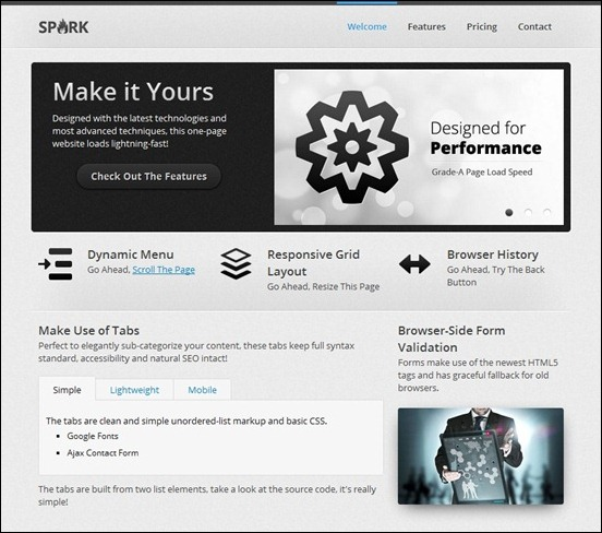 spark-responsive-one-page-etmplate
