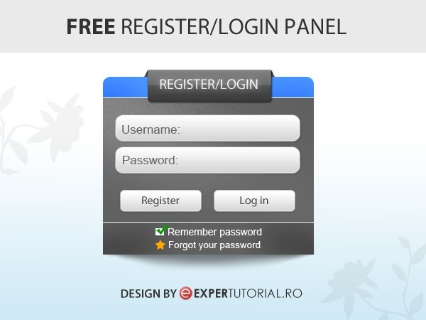 55 free login sign up and contact form psd files free psd register login panel pronofoot35fo Choice Image