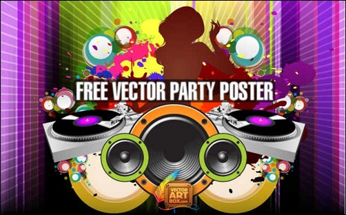 free-vector-party-poster