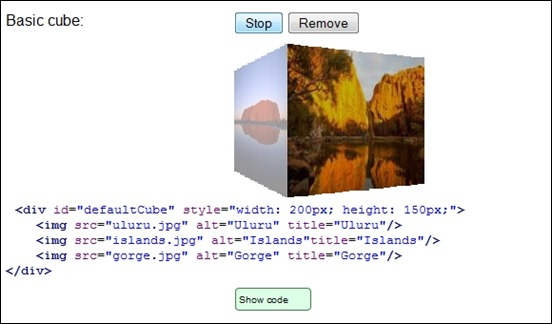 jquery-image-cube