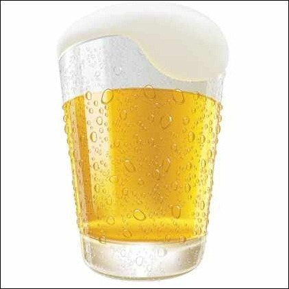 lifelike-beer-glass-vector