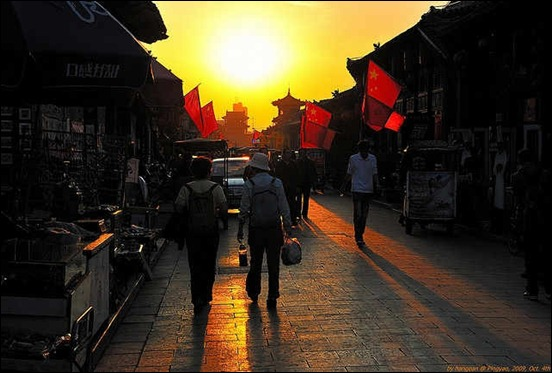 ping-yao-town-at-sunset
