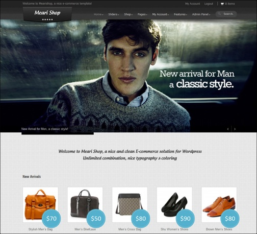 Mearishop clean responsive ecommerce theme