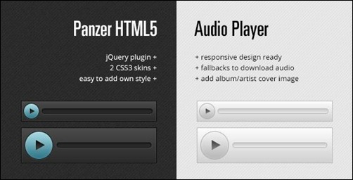 Panzer - HTML5 Audio Player